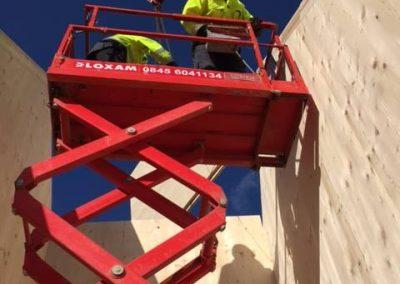 scissor lift clt installing